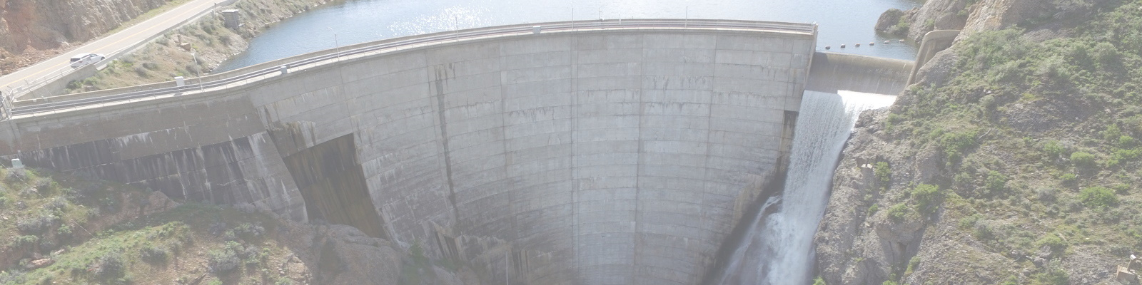 Image showing a concrete arch dam
